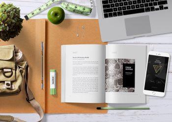 Free Attractive Book Mockup Scene