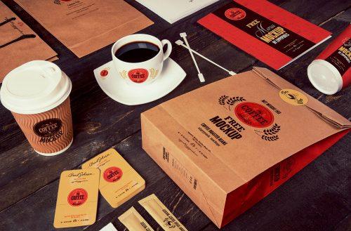 Free Coffee Branding Mockup