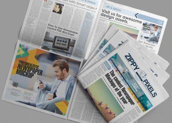 Free Customizable Newspaper & Advertising Mockup