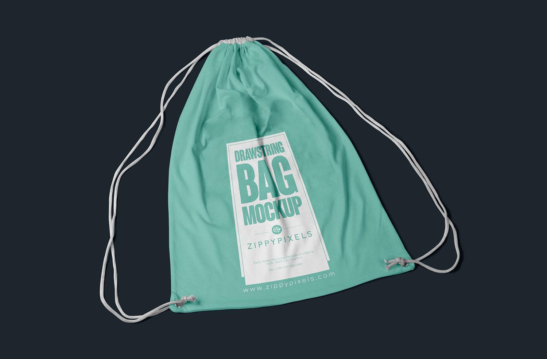 Free Fabric Bag Mockup