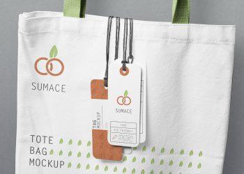 Free Label Tag Mockup PSD