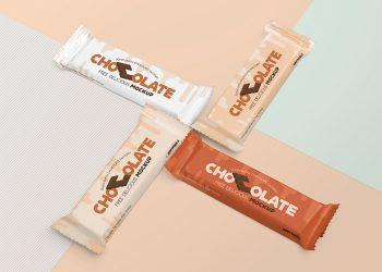 Free Luscious Chocolate Packaging Mockup