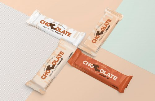 Free Luscious Chocolate Packaging Mockup
