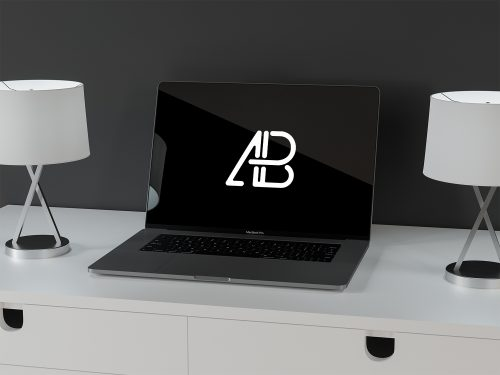 Free Modern Macbook Pro Mockup