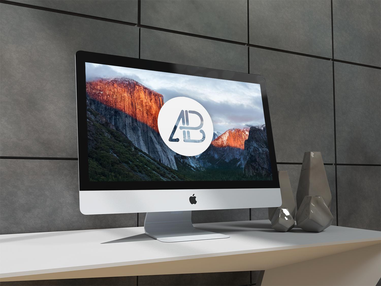 Free Realistic 5k iMac Mockup