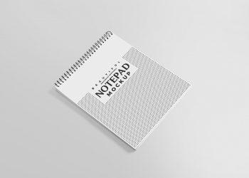 Free Ringed Notepad Mockup