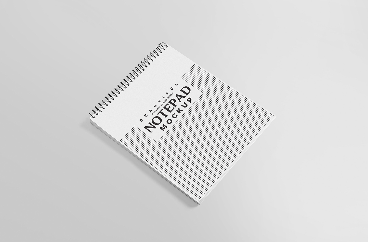 Free Ringed Notepad Mockup