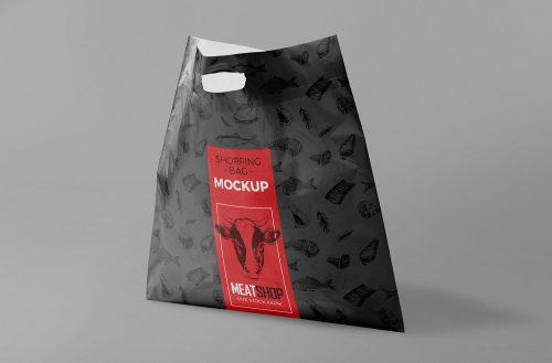 Free Standing Plastic Bag Mockup