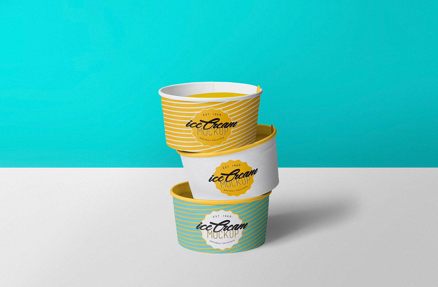 Free Yummy Ice Cream Cup Mockup