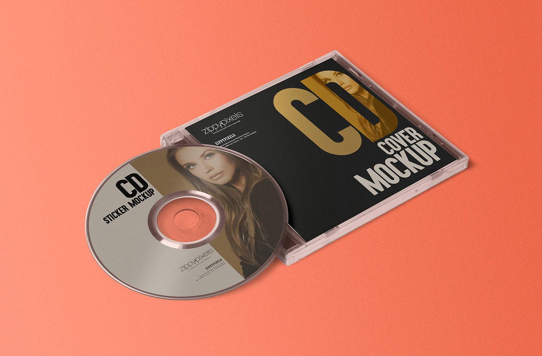 Stylish CD Jewel Case Mockup