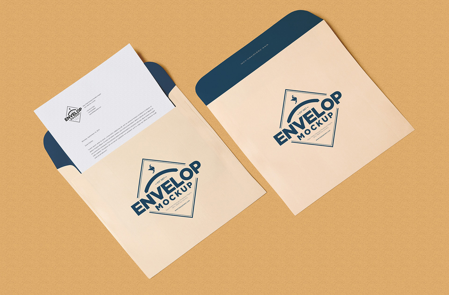 Unique Squared Shaped Envelope PSD Mockup