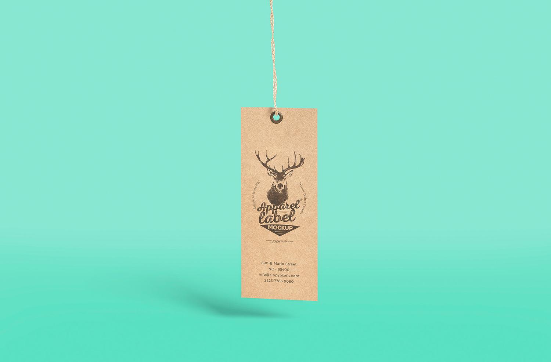 Versatile Free Apparel Label Mockup