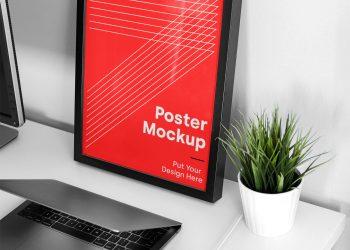 Big Frame Poster Mockup