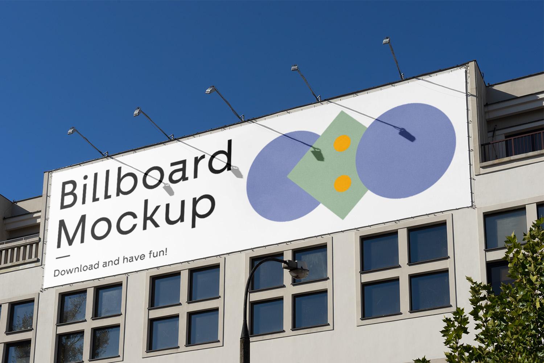 Billboard on the Building Mockup