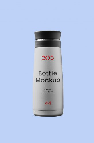 Bottle of Plastic Mockup