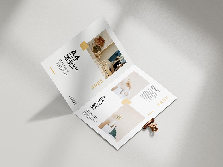Free A4 Brochure Mockups