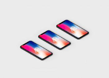 Free Isometric iPhone X Mockup