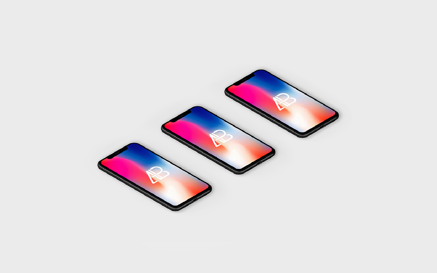 Free Isometric iPhone X Mockup
