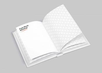 Free Opened Book Mockup