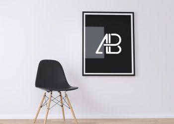 Free Poster Frame PSD Mockup 01
