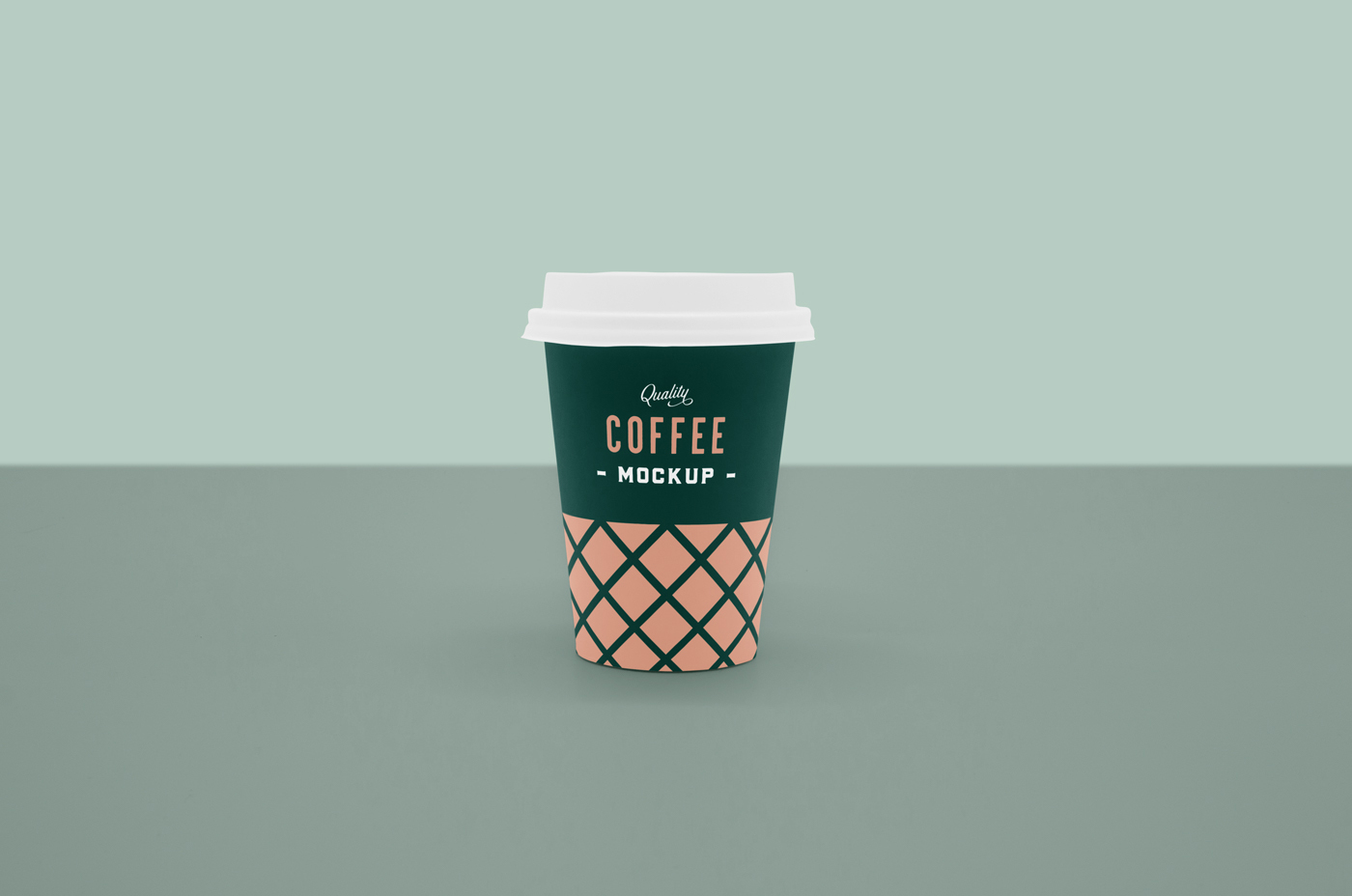 Front Coffee Cup Mockup