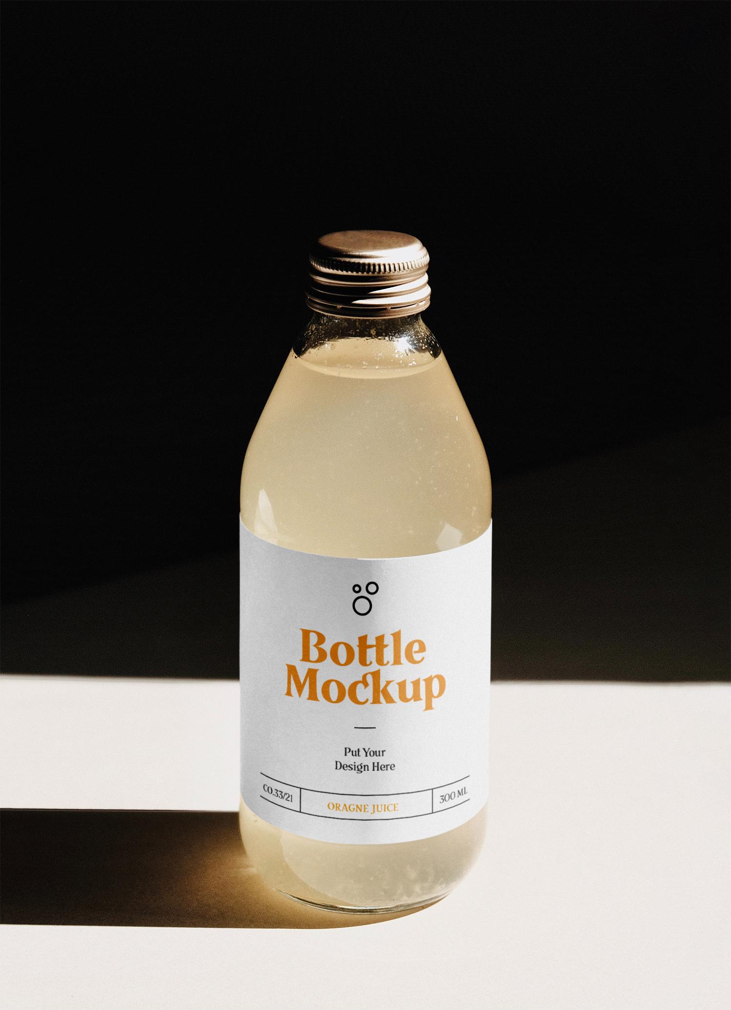 Glass Bottle PSD Mockup