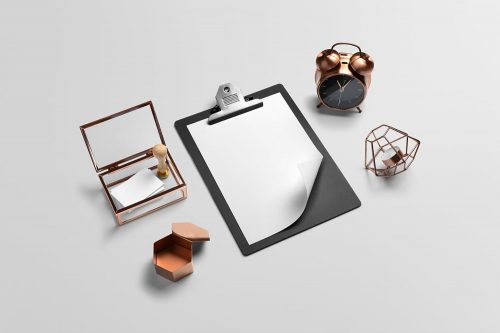 Isometric Free Branding Mockups PSD