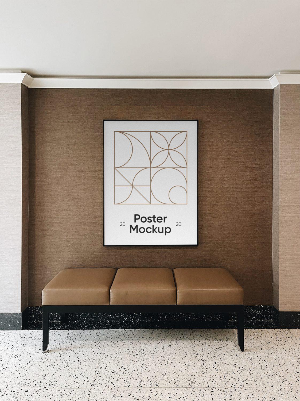Poster in Hotel Mockup