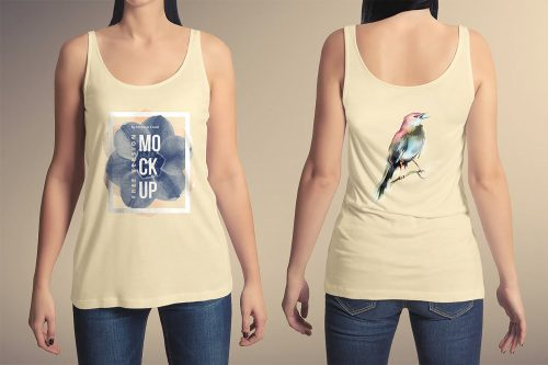 T-Shirt Free Female Mockup