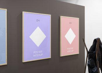 Triple Poster Mockups