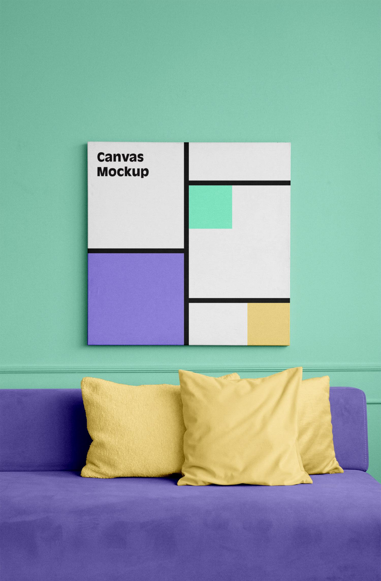 Canvas Square Mockup