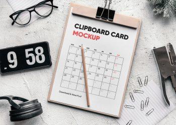 Clipboard Card Mockup
