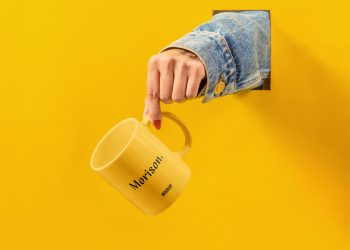 Cup with Hand Mockup