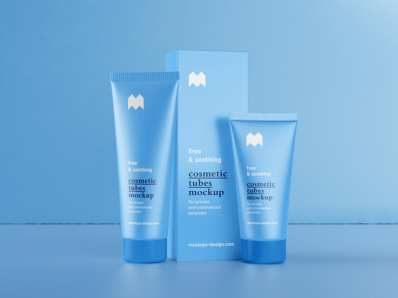 Free Cosmetic Tubes Mockup