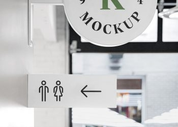 Free Logo Sign Mockup PSD
