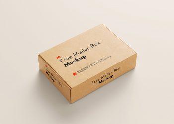 Free Mailer Box Mockup