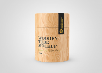 Free Wooden Tube Mockup
