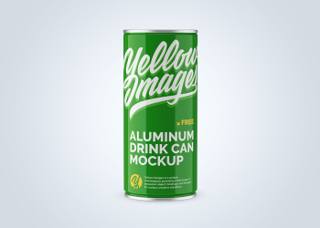 Glossy Aluminum Can Mockup