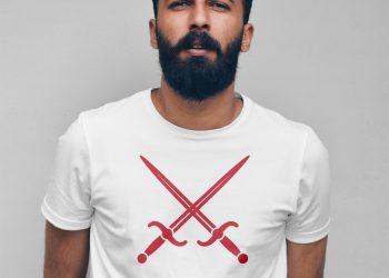 Man with T-Shirt Mockup