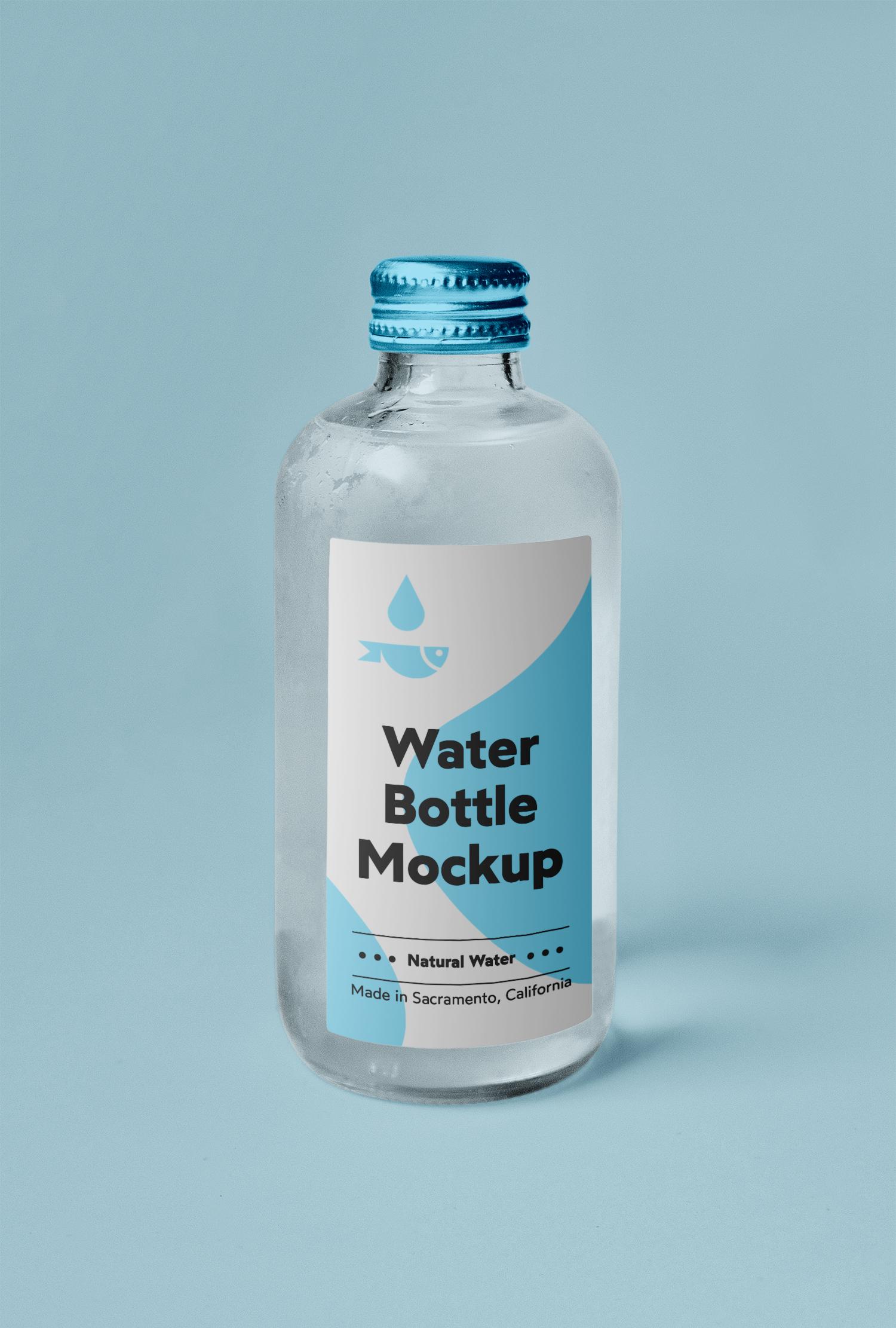 Small Glass Bottle Mockup