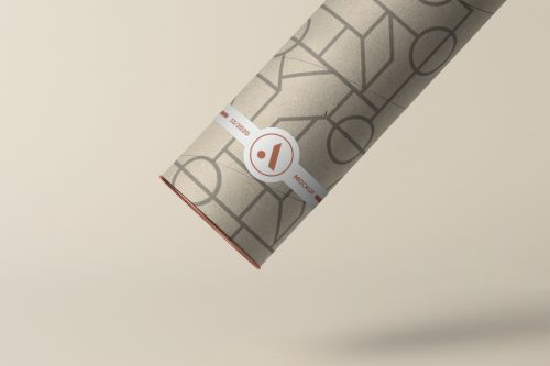 Tube with Label Mockup