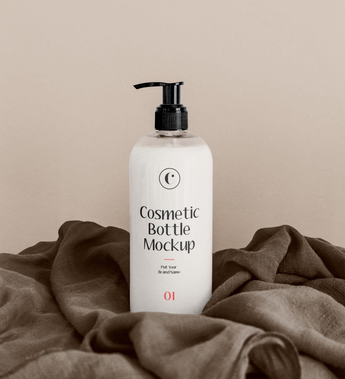 White Cosmetics Bottle Mockup