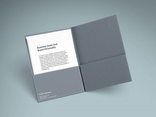 A4 Folder and Paper Free Mockups