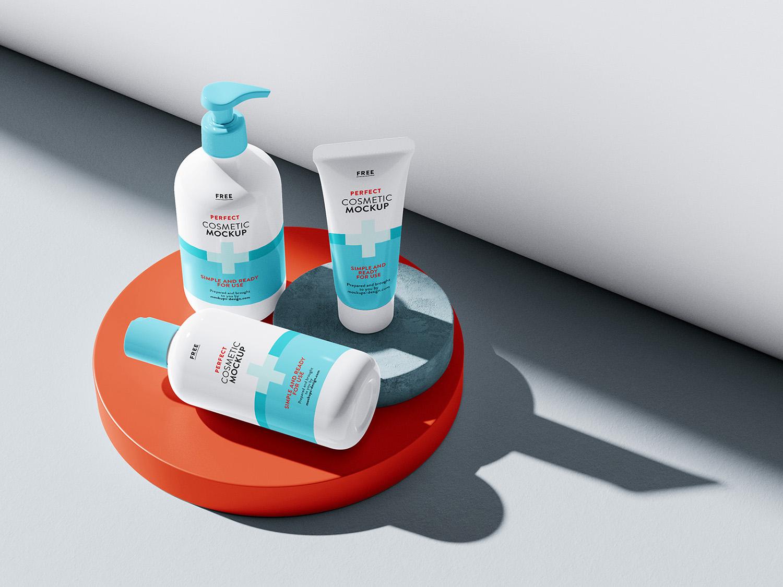 Cosmetics Packaging PSD Mockup