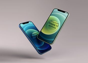 Gravity Psd Iphone 12 Mockup