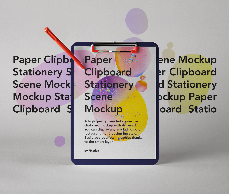 Paper Clipboard Psd Mockup