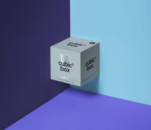 Psd Cubic Box Packaging Mockup