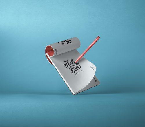 Psd Notepad Mockup