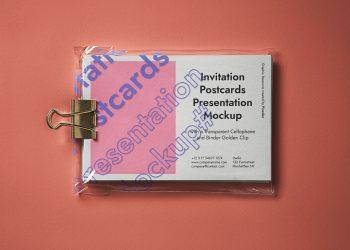 Psd Postcard Mockup