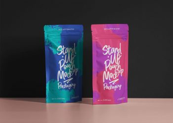Psd Pouch Packaging Mockup